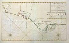 1693 Mortier Map Sea Chart -the West Coast of Africa (Western Sahara, Senegal)