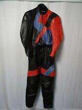 Men's Vintage MQP Leather Motorcycle Race Suit 44R W36 L33