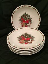 O Christmas Tree Dinner Plates By Ten Strawberry Street 1987 Lot of 6