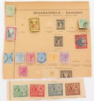 .BAHAMAS. GOOD LOT OF 1800s / EARLY 1900s MINT / USED HINGED STAMPS.