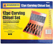 NEW 12 PIECE WOOD CARVING CARVE CHISEL SET CARPENTER HAND TOOL QUALITY WOODWORK