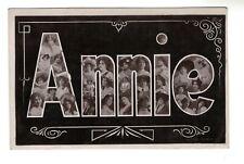 """AL1174 - LARGE LETTER ALPHABET NAME """"ANNIE"""" - RPPC"""