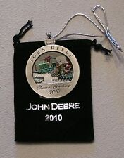 2010 and 2013 John Deere Pewter Christmas Ornament -- BOTH NEW