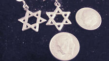 bling sterling silver plated pagan gothic celtic 6 point star ear ring hip hop