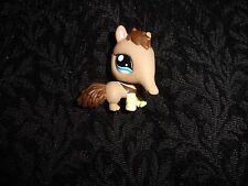 Littlest Pet Shop #1518 Tan & Brown Anteater w/ Blue Eyes Lps Free Shipping