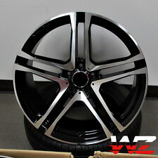 "21"" Split 5 Spoke Style Machined Black Wheels Rims Fits Mercedes AMG ML GL 5x112"