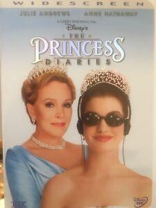 THE PRINCESS DIARIES DVD 2001 Disney AS NEW! Julie Andrews *REGION 1*