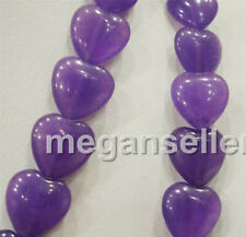 Heart-shaped 10x10mm Russian Amethyst GEMSTONE Purple Heart Loose Beads 15""