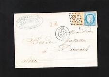 France Seve Faraudy Paper Factory Lyon 1873 Alsace Baden Many Markings Z37