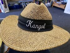 Vintage Kangol Wide Brim Panama Straw Men golf Golf Hat Fits all Made in USA b10