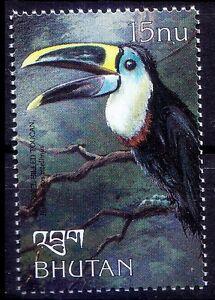 Channel-billed Toucan (Ramphastos vitellinus), Birds, Bhutan 1999 MNH