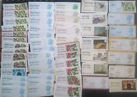 53 Unfranked 2nd 1st Class Post and Go Labels Stamps On Paper includes large