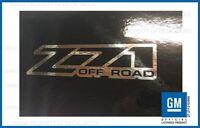 set 2 - Z71 Offroad 2001 <-> 2006 sticker decal Chevy Silverado 4x4 - CHROME