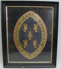Rarest Original English Painting of Queen Elizabeth c. 1566 Reading Coat of Arms