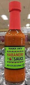 HOT! Trader Joe's Habanero Hot Sauce; net wt. 4.2 fl. oz (125mL) New and sealed!