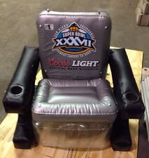 Coors Light Superbowl XXXVII (37) Inflatable Chair  FULL SIZE