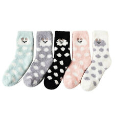 Fashion Women Coral Fleece Middle Tube Socks Sleeping Socks Floor Socks Outwear