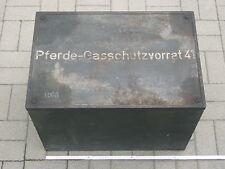 Pferde-Gasschutzvorrat41 / Gasmaske / Metall-Kiste / Wehrmacht / Original / WaA