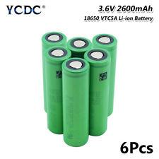 Genuine US18650VTC5A 18650 Battery 3.6V 2600mAh High Drain 35A For Torch 6Pcs E
