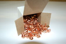 COPPER RIVETS & BURRS #9 3/4  1 POUND BOX APPROX 125  SCA BLEVINS BUCKLES