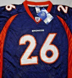 Mens Vintage BNWT Reebok On Field NFL DENVER BRONCOS Clinton Portis Jersey sz L