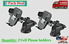 360° Mount Holder Car Windshield Mobile Cell Phone GPS iPhone Samsung TWO PACKS