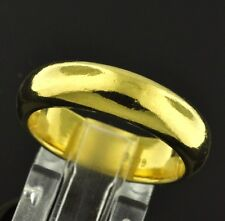9999 24K Solid Yellow Gold bullion Band Ring Handmade  in USA 6.5mm 20.00 grams