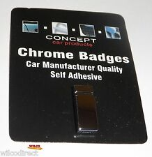 CAR STYLING Chrome Badge LOWER CASE Small I Badges Decals Styling SELF ADHESIVE