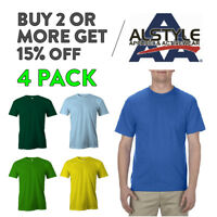 4 PACK AAA ALSTLE 1301 MENS PLAIN T SHIRT CASUAL SHORT SLEEVE SHIRTS COTTON TEE