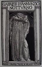 CAROLIS DE ALFONSO (1874-1928) : Frontispice   « Nocturnes»  bois original 1927