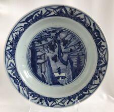 Rare Large Plate Chinese Ming Jiajing 1522-1567 Dish with landscape Scenery