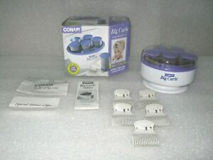 """Conair 1 1/2"""" Big Large Curls 5 Hot Flocked Curl Rollers  TS6D Excellent w/ box"""