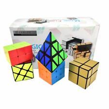 Set of 5 Cube Puzzle Toys 223 3x3 Pyraminx Wheel Mirror Speed Cube Bundle Gift