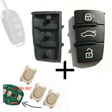 Funkschlüssel Tastenfeld Gummi für AUDI A3 A4 A5 A6 A8 Schlüssel + 3 Smd Taster