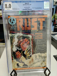 RUST #1 (1992 ADVENTURE COMICS) - CGC GRADE 8.0 - LIMITED EDITION FOIL COVER!