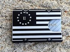 Second Amendment Flag, Aluminum Wallet/Credit Card Holder, RFID Protection, Blk