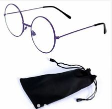 Round Style Harry Potter Inspired Eye Glasses with Pouch -  PURPLE