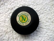 VINTAGE NHL MINNESOTA NORTH STARS CONVERSE ART ROSS TYER HOCKEY PUCK CCM 1969
