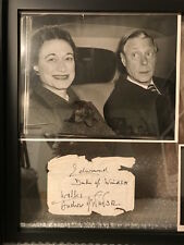 AUTHENTIC THE DUKE AND DUCHESS OF WINDSOR SIGNED PHOTO+AUTOGRAPHS+FROM U.S.