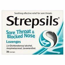 STREPSILS SORE THROAT & BLOCKED NOSE LOZENGES 36