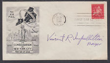 Vincent R. Impellitteri, NYC Mayor, signed New York Golden Anniversary FDC