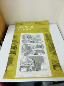 RARE Vintage Original V&A Museum Poster 1970s Aspects Of The Book Exhibition