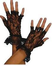 BLACK LACE Ladies Madonna FINGERLESS Gloves  GOTH  Fancy Dress