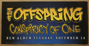 OFFSPRING Rare 2000 PROMO POSTER BANNER w/ DATE 4 Conspiracy CD MINT 24x12 USA