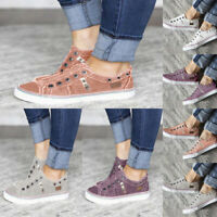 Gift Denim Canvas Slip-on Athletic Sneakers Zipper Women's Shoes Casual Shoes