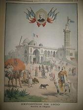 OUVRIERS ANGLAIS EXPO UNIVERSELLE ALGERIE VOYOUS A JERSEY LE PETIT JOURNAL 1900