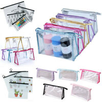 1 Pcs Clear Plastic PVC Cosmetic Bag Makeup Zipper Bags Travel Pouch Pencil Case