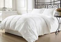 Duvet Insert Quilted Comforter Hypoallergenic Silky Soft Down Alternative White