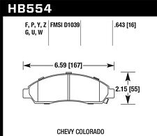 Disc Brake Pad Set-LS Front Hawk Perf HB554Y.643