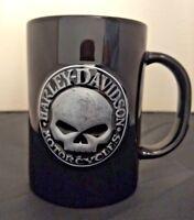 Harley Davidson 2006 Willie G Skull and Harley Davidson Raised Logo Black Mug